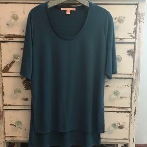 Rebellious One Blue High-Low Tunic (XL) - EUC